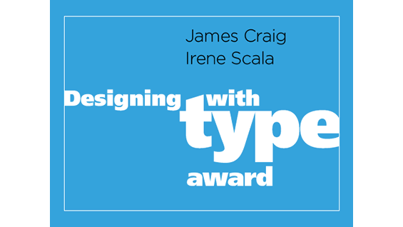 Designing with type award poster