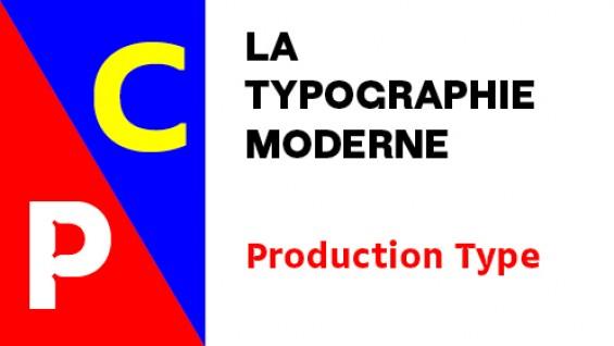La Typographie Moderne poster