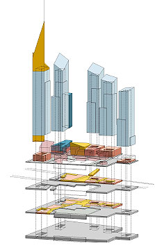 Freedom Tower underground cross section