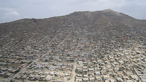Kabul, Afghanistan from helicoptor