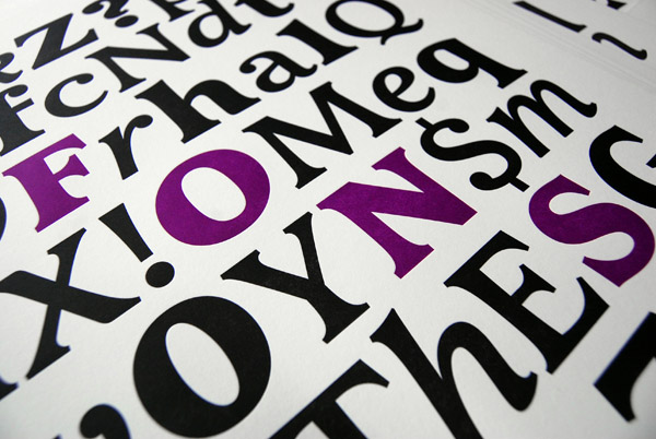 Print detail from Type@Cooper