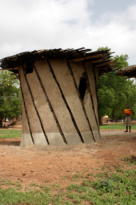 Jirapa, Ghana (2009), experimental mud and bamboo house, Caitlin Martusewicz (Arch '11), Noah Garcia (Arch '10)