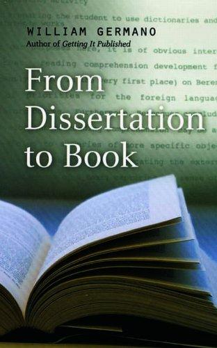 From Dissertation to Book