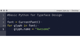 Basic Python Programming for Typeface Design