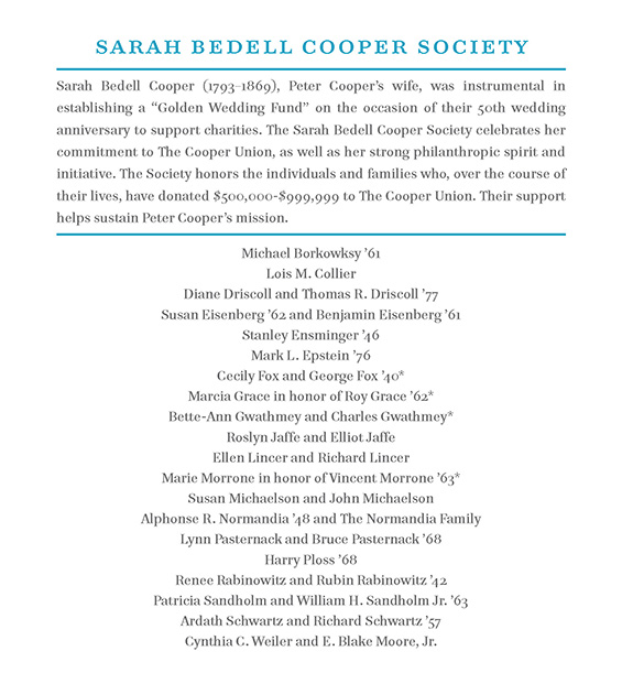 Sarah Bedell Cooper Society 2013
