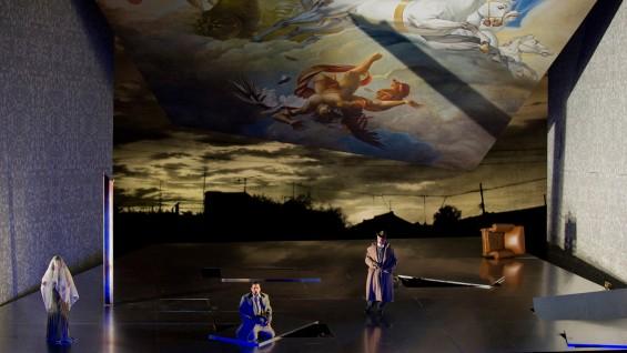"""A scene from Verdi's """"Un Ballo in Maschera""""; Photo: Metropolitan Opera"""