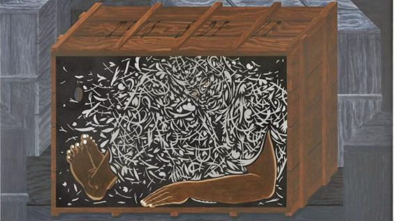 '25 hour Cargo Piece' (detail) by William Villalongo. Images courtesy Susan Inglett Gallery.