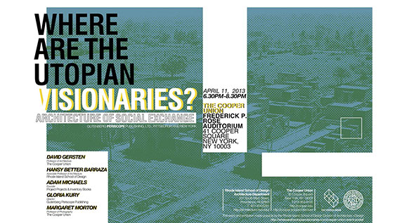 Where Are the Utopian Visionaries panel poster