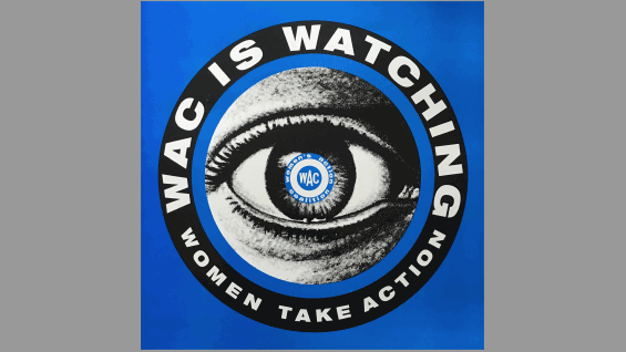 Bethany Johns and Marlene McCarty, WAC Eye Logo, offset poster, 1992