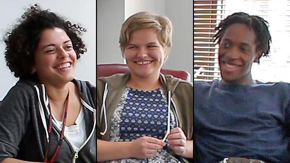 Vyczie Dorado, Jenna Scott, and Ezekiel Binns